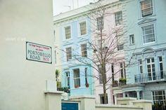 London Photo. Portobello Road. Notting Hill. Travel photo. England whimsical colorful nostalgic home decor wall art 6x9. photo print. $25.00, via Etsy.