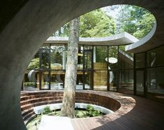The 'Shell House' by architect Kotaro Ide, is a sculptural shell-like structure which has been built in the woods of Karuizawa, Japan.