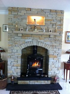 Natural Stone Fireplace Surround gold quartzite fireplace surround - mcmonagle stone | natural