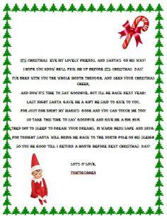 Elf on the Shelf Goodbye Poem