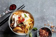 Warming, comforting and incredibly easy to make, this chicken curry laksa will bring smiles to all come dinner time.