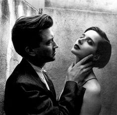 Helmut Newton, David Lynch and Isabella Rossellini -1986 on ArtStack #helmut-newton #art