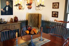 Every Prim Home needs a Make-Do-Chair~please visit Harvest House Designs