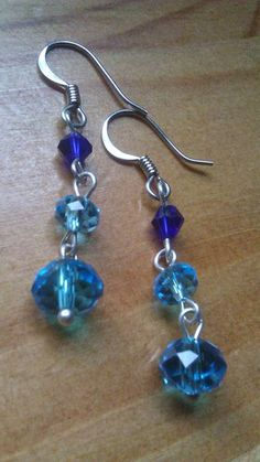 'Blue Water Crystal Dangles' is going up for auction at  4pm Fri, Jun 29 with a starting bid of $7.