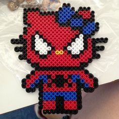 Spiderman Hello Kitty perler beads by danceluver147