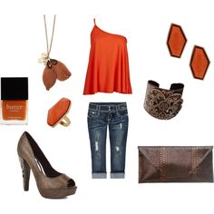 Orange & Brown w/ gold accents, created by vidah
