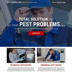 reliable pest control service responsive landing page design