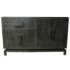 Cerused Oak Sideboard in the Manner of Jean Michel Frank | From a unique collection of antique and modern sideboards at https://www.1stdibs.com/furniture/storage-case-pieces/sideboards/