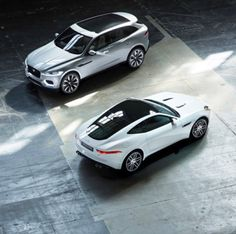 Love to have these 2 cars on my drive. Jaguar F-Type and Jaguar F-Pace.