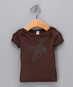 Take a look at this Brown Plane Organic Tee - Infant by Two Owls on #zulily today!