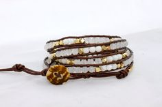 5 wrap leather bracelet  Chan Luu inspired  by myjlynndesign, $75.00