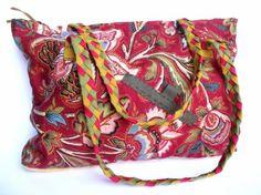 bolso de tela morado bolso tela,cinta cosido a máquina