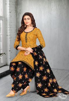 meenaxi patiyala kudi 1 heavy cotton printed dress material full catalog available at wholesale rate Salwar Designs, Punjabi Suit Neck Designs, Simple Kurti Designs, New Kurti Designs, Kurta Designs Women, Kurti Designs Party Wear, Pakistani Dress Design, Printed Kurti Designs, Chudithar Neck Designs