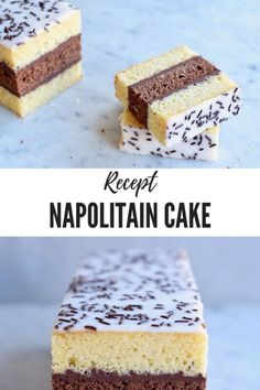 Napolitain Cake – simpel recept – van Gwenn's Bakery No Bake Desserts, Dessert Recipes, Cake Recept, Sweet Cakes, High Tea, Oreo, Delish, Bakery, Food And Drink