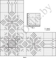 схема вышивки углового мотива с белорусским орнаментом