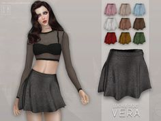 Screaming Mustard's [ Vera ] - Leather Skirt