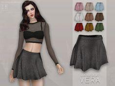 Screaming Mustard's [ Vera ] - Leather Skirt