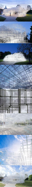 2013 Sou Fujimoto - Serpentine Pavilion / London UK / Japan / steel glass / white / cultural