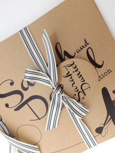 Hand Tied Bow with a Tag