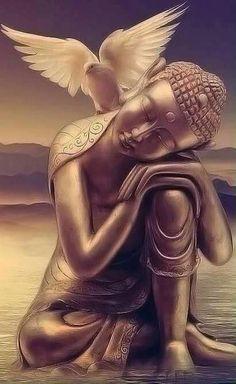 buddha art - Buddha and Dove Round Diamond Painting Lotus Buddha, Art Buddha, Buddha Painting, Buddha Buddhism, Buddha Peace, Spirit Art, Art Zen, Religion, 5d Diamond Painting