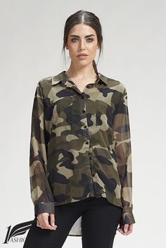 Camisa gasa camuflaje 29,90€ #https://www.1fashionglobal.net/Megami/tienda/camisas/