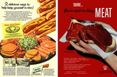 Red meat to keep you trim... including hot dogs!?