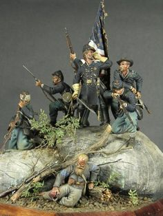 Michigan Toy Soldier Company Fine Toy Soldiers and Military Miniatures - The Civil War in Historical Miniatures Military Figures, Military Diorama, Civil War Art, Military Modelling, Le Far West, Toy Soldiers, Show Photos, American Civil War, Figure Painting