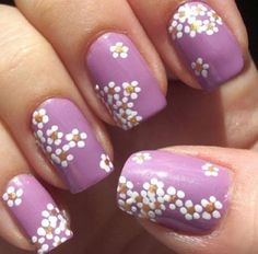 Purple with white flowers!