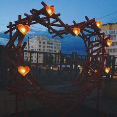 Арт объект.Сердце с лампочками. Instagram:craft_and_lamp