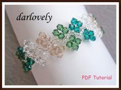Swarovski Green Vein Bracelet Tutorial by darlovely | JewelryLessons.com