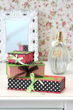 Passo-a-passo caixinhas decorativas - cartonagem