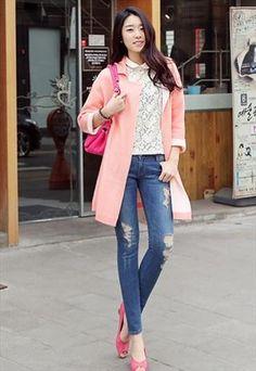 Slouchy Reversible Cardigan (Pink)