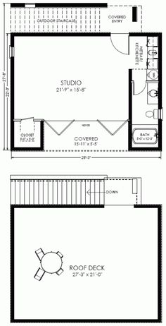 Small house plans house plans cabin and tiny houses for Studio guest house plans