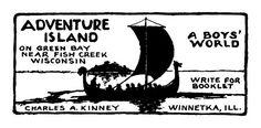 Vintage Summer Boy's Camp Advertising Sign