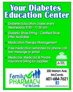 Family Pharmacy of McComb Diabetes Education Center #Diabetes