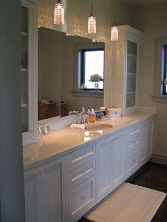 Custom vanity by Wesley Ellen Design & Millwork.  Wesley Ellen works directly with homeowners and designers across North America.  www.wesleyellen.ca