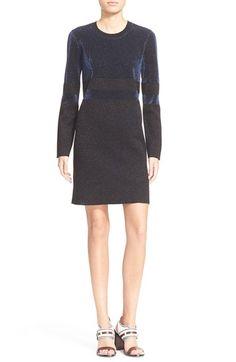 Tory Burch Metallic Stripe Long Sleeve WoolSheath Dress available at #Nordstrom