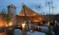 Roof terrace, Riad Dar One, Marrakech, Morocco