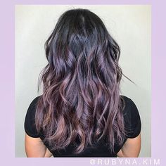 DREAM HAIR! P U R P L E  2  P I N K (metallic purple to pink balayage) DM or text to book an appointment:)