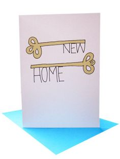 Got The Keys Card - house move card - new home card - new business card - house… New Home Cards, House Of Cards, House Drawing, New Homeowner, Announcement Cards, Moving House, Cute Cards, Diy Cards, Card Envelopes