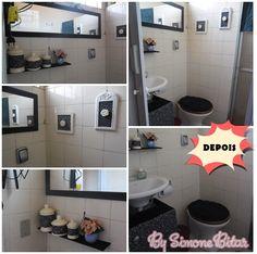 DEPOIS: Um banheiro simpático mesmo que simples. http://recantodasborboletas-simoninha.blogspot.com.br/2013/09/antes-e-depois-banheirinho.html