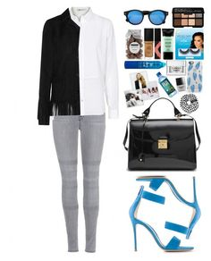 """""""Sex"""" by vanessasimao1999 ❤ liked on Polyvore featuring J Brand, T By Alexander Wang, Yves Saint Laurent, Gianvito Rossi, Marc Jacobs, Illesteva, Bumble and bumble, Casetify, eylure and Smashbox"""