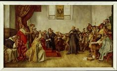 martin Luther appearing before Charles V, at the Diet of Worms