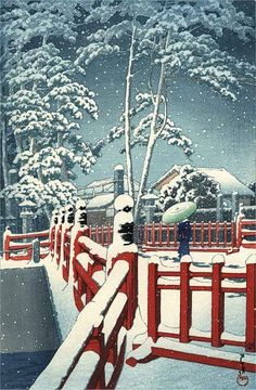 View and purchase art by Kawase Hasui and other Japanese artists. Extensive online gallery includes hundreds of fine prints. Japanese etchings, wood block, silkscreen, stencil from famous artists. Japanese Artwork, Japanese Painting, Japanese Prints, Japanese Woodcut, Art Asiatique, Japanese Landscape, Art Japonais, Snow Scenes, Landscape Prints