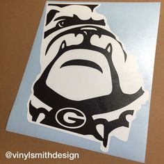 University Of Georgia Bulldogs Sign Made From Wood Approximately