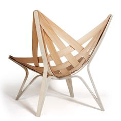 a chair composed of triangles Funky Furniture, Furniture Styles, Furniture Design, Furniture Ideas, Funky Chairs, Cool Chairs, Elements Of Design Shape, Bent Wood, Contemporary Chairs