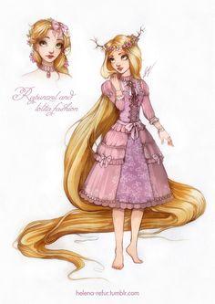 Diseño de princesas Disney versión LOLITA