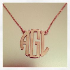 Sasha Sterling Gold Plated Geometric Monogram