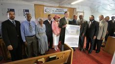 """Olson, Green, State Rep Ron Reynolds, Missouri City City Council members & Pastor Fisher""""St. John Baptist Church is a historic institution in Missouri City that has represented unshakeable faith and grace for more than a century,"""" Congressman Al Green said.  """"Pastor Fisher and his congregation have been stewards of the 146-year-old legacy of this church."""