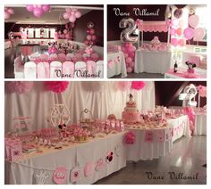 Nice table set-up and use. Minnie Mouse Theme Party, Mickey Mouse Clubhouse Birthday, Mickey Birthday, Mickey Party, Mouse Parties, First Birthday Parties, First Birthdays, Birthday Ideas, 17 Birthday